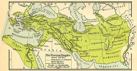 The Persian Empire Map | 500 B.C.